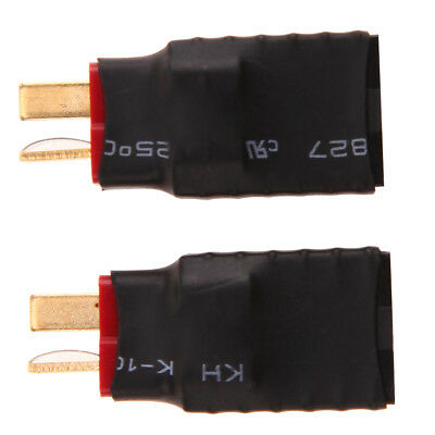 2pcs Wireless Traxxas Plug Female to T-Plug Male Deans Style Connector Adapter
