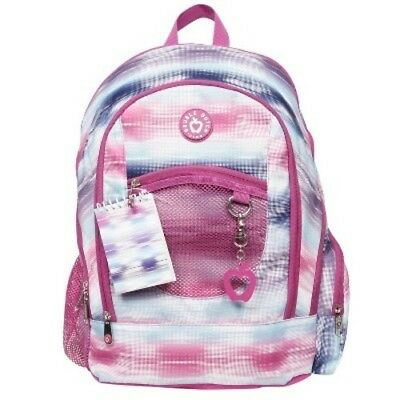 """NEW DDC Kids' 18"""" Ombre Swish Print Backpack - Pink"""