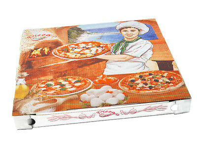 100 Pizzakarton Pizza Karton Pizzabox to go 32 cm Pizzakarton Motivdruck (71932)