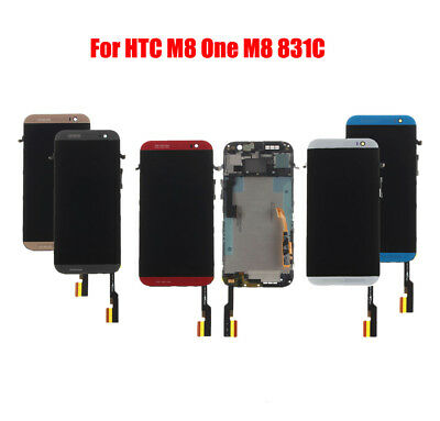 For HTC One M8 831C Touch Screen Digitizer + LCD Display Assembly with Frame @2H