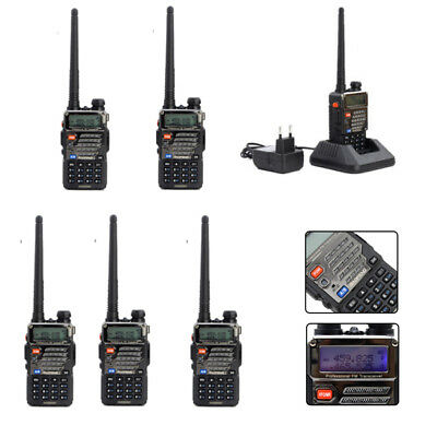 6x Baofeng UV-5R Plus 2M/70cm UHF Dual band  Amateurfunk Tragbar Walkie-Talkie