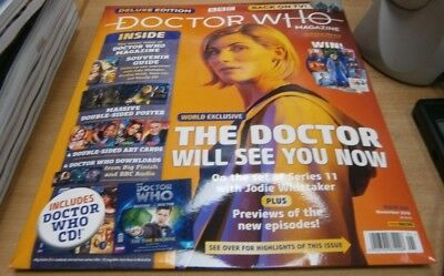 BBC Doctor Who Magazine Deluxe Ed #1 Inc #530 2018 + Series 11 guide & ArtCards