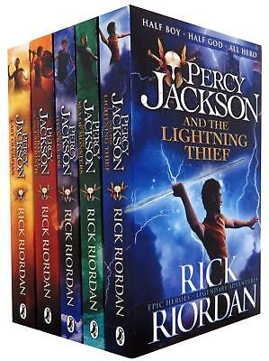 Percy Jackson and the Olympians 5 Books Collection Set The Lightning Thief