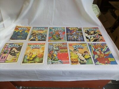 Job Lot Off 10 Early  2000 Ad Featuring Judge Dredd Comics 531 To 540