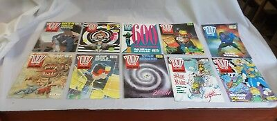 Job Lot Off 10 Early  2000 Ad Featuring Judge Dredd Comics 598 To 607