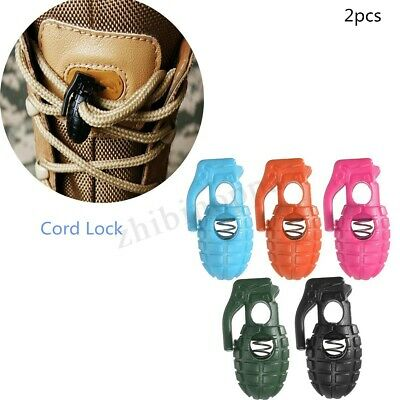 4/6/10x Colorful Grenade Style Cord Lock Stopper Toggle Shoe Wires For Shoe Lace