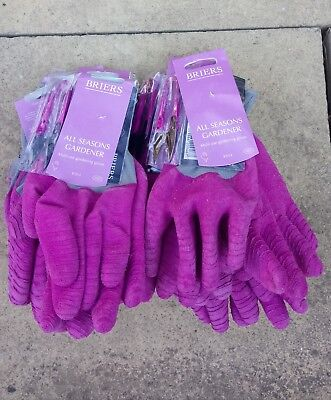 Briers Ladies All Seasons + Snips garden Gloves, Med. Pink JOB LOT x 16 pairs
