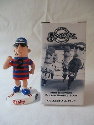 Vintage 2003 Milwaukee Brewers Collectible Mini Polish Sausage Bobble Body Nib!