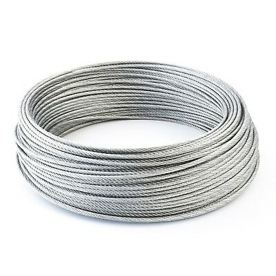 6x7 GALVANIZED STEEL CABLE stranded metal wire rope 1.5mm 2mm 2.5mm 3mm 4mm 5mm