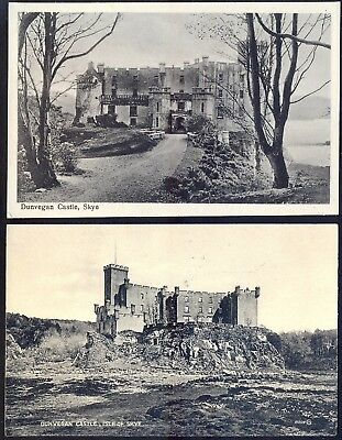DUNVEGAN Castle, Isle of Skye. Two Vintage (1929) Postcards. Free UK Post