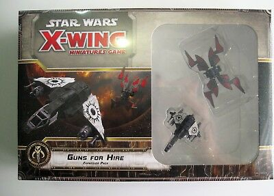 STAR WARS X-Wing GUNS FOR HIRE Expansion Pack Fantasy Flight Sealed !!!