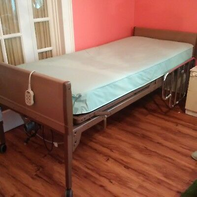 Invacare Electric Hospital Bed (SN G5301IVC) w/ Mattress, Remote and Rails