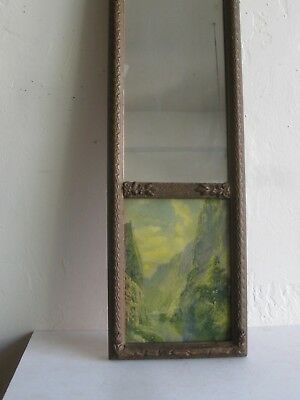 Antique YOSEMITE VALLEY MOON RIVER PRINT TRUMEAU WALL MIRROR FRAME NATIONAL PARK