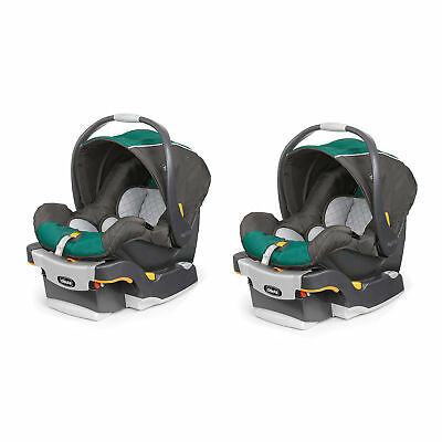 Chicco KeyFit 30 ReclineSure Rear Infant Car Seat & Base, Green Energy (2 Pack)
