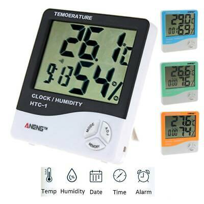 HTC-1 Electronic Thermometer Hygrometer Indoor Temperature Humidity Meter Clock