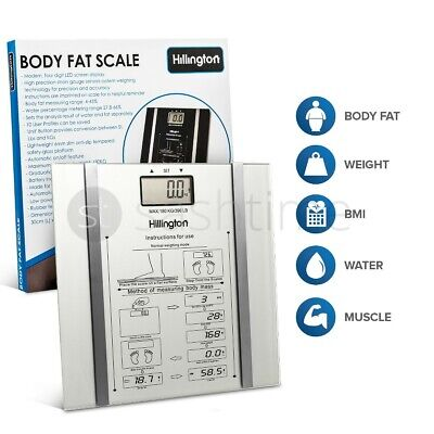 Digital Body Fat Analyser Scales Bmi Healthy 150Kg Weighing Scale Weight Silver