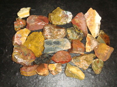 Nice Old Mixed Jasper Rough Lot         22   Pounds
