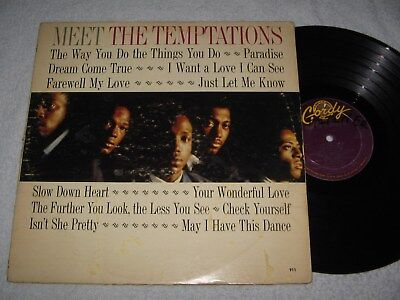 LP: The Temptations - Meet the Temptations, 1964, Mono, 1,--