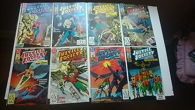 JUSTICE SOCIETY OF AMERICA #1-8 DC Comics 1991 NM- Complete First Series