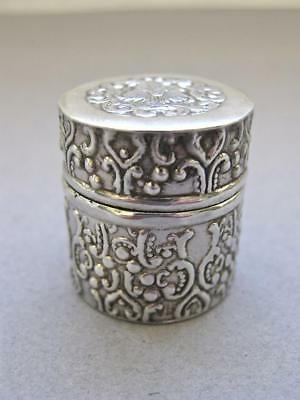Antique Solid Silver Thimble Holder-Chateleine