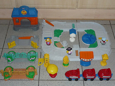 Fisher Price LITTLE PEOPLE /BAHNSTATION/Elektr. Eisenbahn-Set/Sound/Mattel/77999