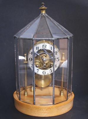 Superb Retro Steampunk Vintage Upcycled Clock Under Glass Dome