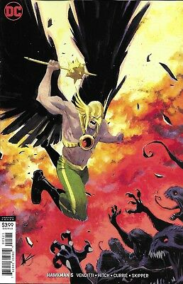 Hawkman Comic Issue 5 Limited Variant Modern Age First Print 2018 Venditti DC