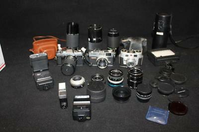 Vintage Photography Lot Minolta, Sigma, Canon..Lens, Flashes, Cameras and more
