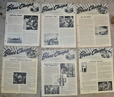 Warner & Swasey BLUE CHIPS WWII For Men Who Know TURRET LATHES News letters