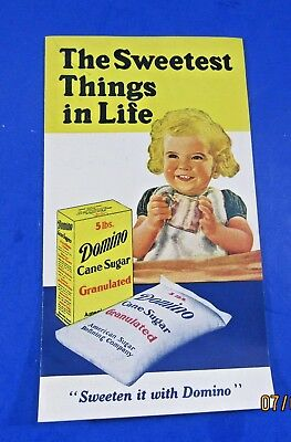 VTG  Domino Cane Sugar  BROCHURE FOLD  OUT FROM  American Sugar Refining Company