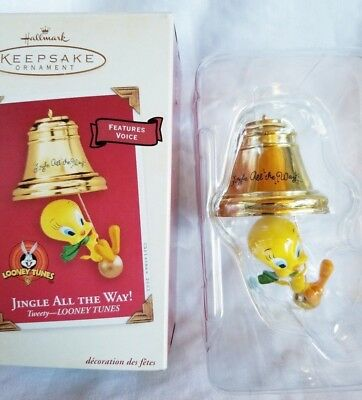 Hallmark Christmas Ornament Jingle All the Way Tweety Bird Looney Tunes In Box