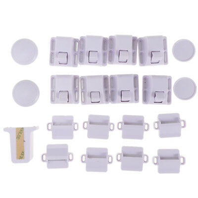 Baby Proofing Magnetic Cabinet Lock Set Child Safety Locks x 8