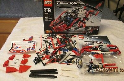 LEGO TECHNIC RESCUE Helicopter LT 9396 95% complete AS-IS