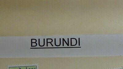 Burundi stamp selection on stock sheets w/ 100's or so