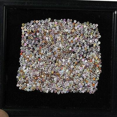1000 Pcs 1.2mm 100% Natural Sapphire Diamond Cut Multi Color Shimmering Gems
