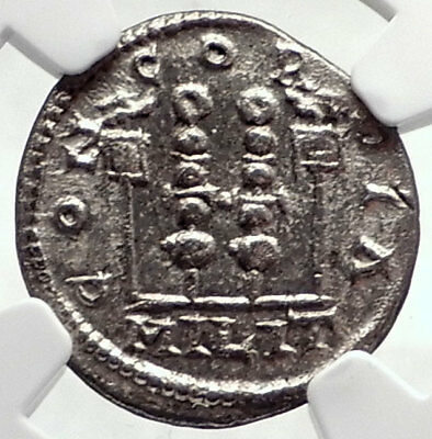 ELAGABALUS Ancient 218AD Antioch Legion Standards Silver Roman Coin NGC i72764