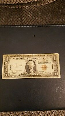 United States Silver Certificate One Dollar Series 1935A Brown Seal Hawaii