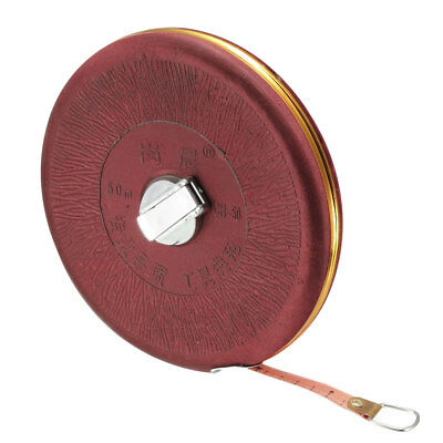 50M Length  Round Case Retractable Sewing Cloth Measure Tape Metric 1 Pcs