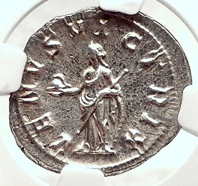 GORDIAN III 240AD Authentic Ancient Silver Roman Denarius Coin VENUS NGC i72774