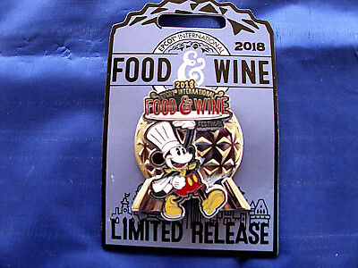 Disney * CHEF MICKEY * EPCOT Food & Wine 2018 * New Limited Release Trading Pin