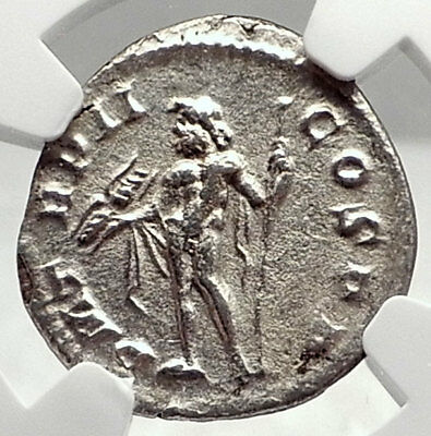 SEVERUS ALEXANDER Authentic Ancient 222AD Silver Roman Coin JUPITER NGC i72784