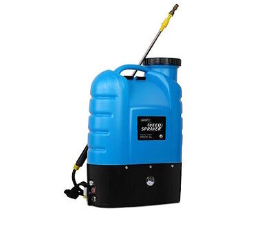 16L Electric Weed Sprayer Rechargeable Backpack Farm Garden Pressure Pump Spray
