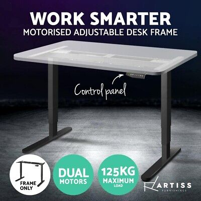 Artiss Height Adjustable Standing Desk Frame Motorised Electric Dual Motor Black
