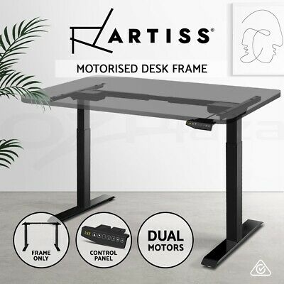 Artiss Electric Height Adjustable Standing Desk Frame Motorised Dual Motor White