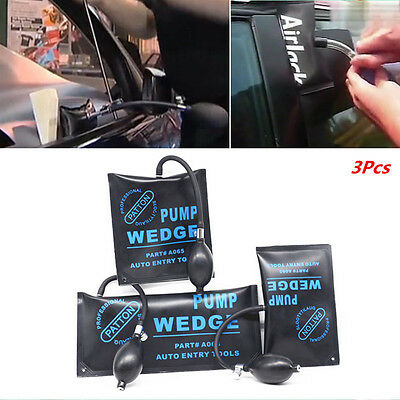 3×Car Pump Wedge Alignment Inflatable Shim Air Powerful Automotive Hand Tool Set