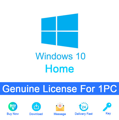 Genuine Windows 10 Home 32&64 bit Activation Key For 1PC