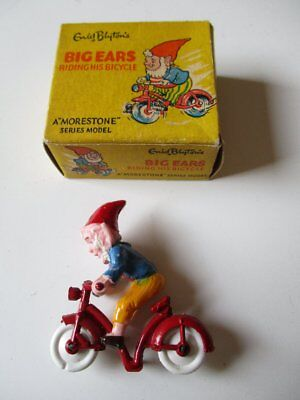 Tin Toy Noddy BIG EARS Riding Bicycle Enid Blyton Morestone Model 5 cm 50s OVP