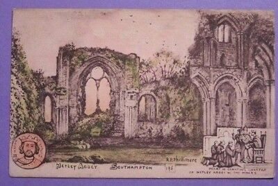 RP PHILLIMORE of NORTH BERWICK.  Vintage NETLEY ABBEY POSTCARD.