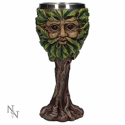 Green Man Eyes of the Forest Goblet 19cm - Collectable Mug Hand-Painted Tree