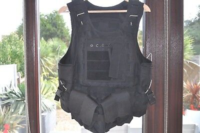 Tactical armoured Military Vest Army Paintball Airsoft Combat Assault Vest m / l